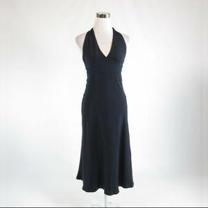 J. Crew blue silk empire waist dress 2P